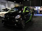The Mercedes smart electric vehicle has a range of 68 miles in