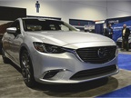 The 2017 Mazda 6 Touring sedan features the SkyActive-G 2.5L