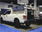 A.R.E. featured a new heavy-duty aluminum commercial cab DCU, pictured