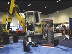 The Menzi Muck M220 all-terrain excavator can work in deep water and