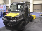 Hustler Turf Equipment s MDV utility vehicle features level lift bed