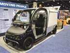 Polaris  Gem eL XD all-electric utility vehicle features bucket seats,