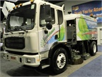 Elgin Crosswind street sweeper with EcoInfused technology.