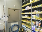 The parts elevator allows employees to easily transfer heavy parts