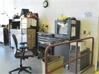 Pictured is one of five strategically placed technician work stations