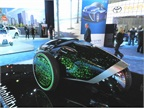 An interesting, single seat concept car from Toyota with light up