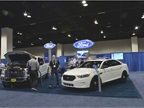 Ford brought a few of its vehicles out for attendees to view.