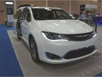 FCA showcased its Chrysler Pacifica Hybrid minivan.