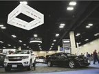 GM s vehicles on display included the Chevrolet Colorado and the