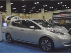 Nissan Leaf battery-electric car.