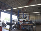 The central garage services more than 1,300 vehicles, including