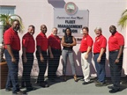 "The City of Tampa fleet management ""dream team"" consists of (l-r): Arturo Betty, John Daff, Earl Gant, Dick Guerra, Connie White-Arnold, Jeff Hajdu, Kevin Koudela, and Gary Stewart. Photo coutesy of City of Tampa"