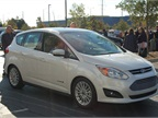 Ford had its new C-MAX Hybrid at the show. Photo by Greg Basich.