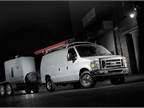 Ford E-Series vans have a towing capacity of up to 10,000 lbs. when