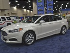 Ford had a Fusion sedan on display at the company s booth.