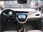 The Bolt EV s cabin includes two digital displays that provide