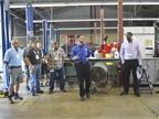 Charles Peer, fleet maintenance supervisor, explains the state