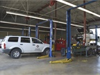 Services at the central garage also include safety inspection, tire,