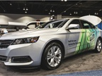 The Chevrolet Impala bi-fuel CNG vehicle allows drivers to use both