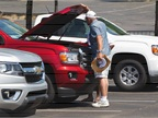 A Chevrolet Colorado gets a look under the hood by one fleet manager.