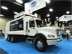Heil showed its Durapack 5000 high-compaction refuse truck at GFX.