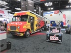 Freightliner Custom Chassis Corp. rocked their booth. Photo: David