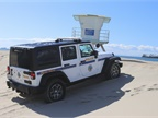 Power is necessary when patrolling on sand and through water. For the City of Long Beach Marine Patrol, four wheel drive is essential. Photo courtesy of City of Long Beach