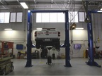 The city s main garage is set up with lifts that can handle light-duty