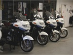 The city maintains 25 BMW police motorcycles.