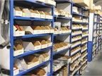 Lesser-demanded parts are catalogued in the parts room.