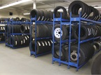 The city stores several hundred tires of various sizes at all times.