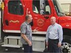 Dan Berlenbach talks with John Seevers, superintendent of maintenance.