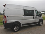 This ProMaster 2500 EcoDiesel high-roof cargo van has a 136-inch