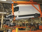The step of the process shows powertrain installation for the unibody