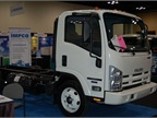 IMPCO brought an Isuzu NPR fueled by natural gas to the event. Photo