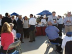 Attendees enjoy refreshments at the GFX Monday evening networking