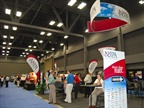 More than 90 exhibitor booths were displayed on the expo floor.