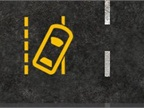 The lane departure warning lets drivers know when they begin to drift unintentionally or without a turn signal.