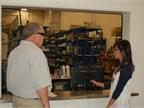 John Manring, fleet coordinator, leads a tour of the fleet facility,