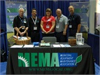 MEMA staff man a booth at the ACT Expo in May 2012. L-R are John