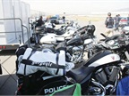 Evaluators tested this lineup of police motorcycles.