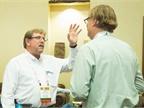 David Worthington from Sonoma County, Calif., (left) speaks to Richard