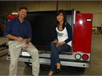 Fleet Supervisor Jeff Hart is pictured with GF Managing Editor Thi Dao