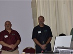 Returning officers (l-r) are Rick Longobart, president; Jay Nossett,