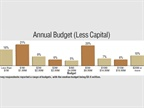 Survey respondents reported a range of budgets, with the median budget
