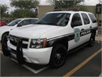 Pictured here is GM s Chevrolet law enforcement edition of the Tahoe.