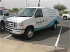 ROUSH CleanTech brought one of its E-250 Super Duty propane