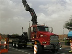 This is a crane with a Kenworth chassis.