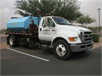 Marrell brought this Ford F-650 XLT Super Duty with a tank on the