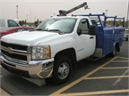 This Chevrolet 3500 HD features a service body from UTB.